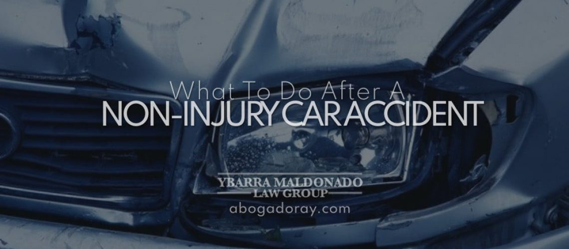 What to do after a non-injury car accident
